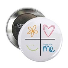 Happy to be me Button