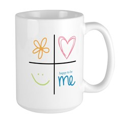 Happy to be me Large Mug