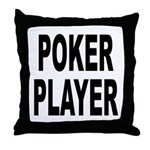 Poker Player Throw Pillow