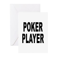 Poker Player Greeting Cards (Pk of 10)