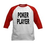 Poker Player (Front) Kids Baseball Jersey