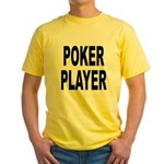 Poker Player Yellow T-Shirt