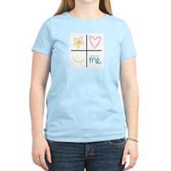 Happy to be me Women's Pink T-Shirt
