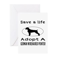 Adopt A German Wirehaired Pointer Dog Greeting Car