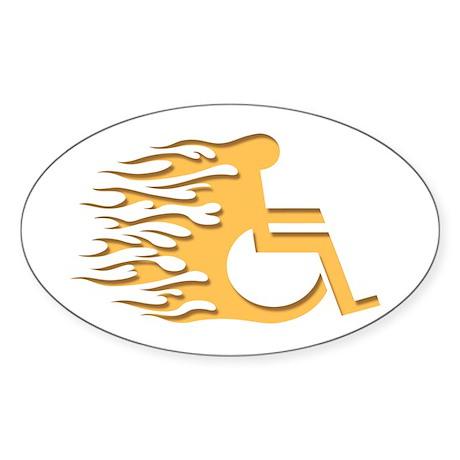 Speed Wheeling Oval Sticker