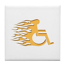 Speed Wheeling Tile Coaster
