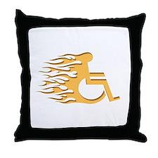 Speed Wheeling Throw Pillow