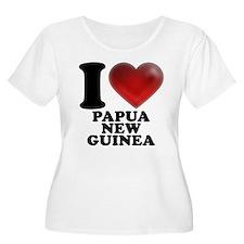 I Heart Papua New Guinea Plus Size T-Shirt