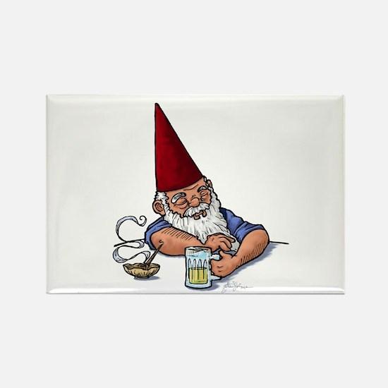 Drunken Barley Gnome Rectangle Magnet