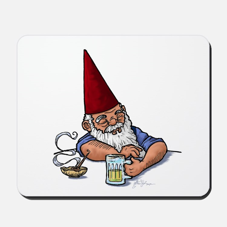 Drunken Barley Gnome Mousepad