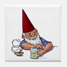 Drunken Barley Gnome Tile Coaster
