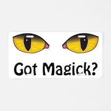 Yellow Eyes Got Magick? Aluminum License Plate