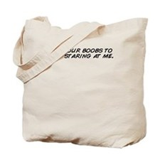 Staring boobs Tote Bag