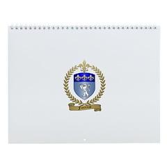 FONTENOT Family Crest Wall Calendar