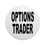 Options Trader Ornament (Round)