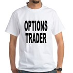 Options Trader (Front) White T-Shirt