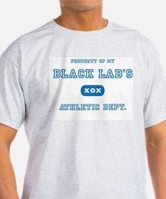 Black Lab Ash Grey T-Shirt