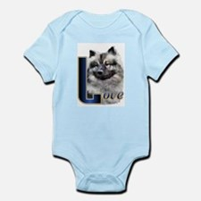 Keeshond Love Infant Bodysuit
