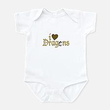 I Love Dragons (2) Infant Bodysuit