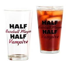 Half Baseball Player Half Vampire Drinking Glass