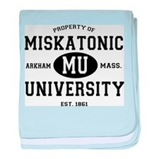 Property of Miskatonic University baby blanket