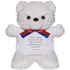 Telegram to the Friars Club Teddy Bear