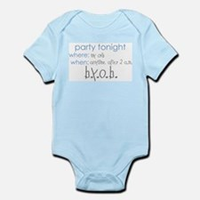 Party at my crib blue Infant Bodysuit