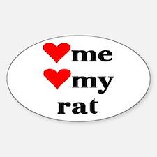 LOVE ME LOVE MY RAT Oval Decal