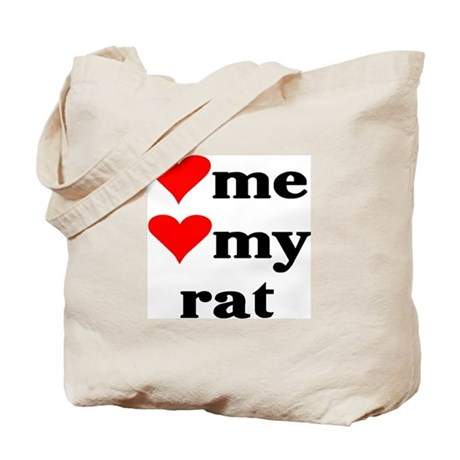 LOVE ME LOVE MY RAT Tote Bag