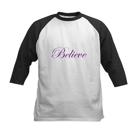 Purple Believe Kids Baseball Jersey
