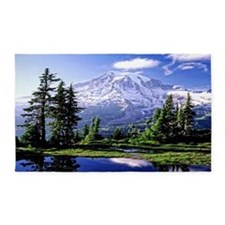 Mt Raineer National Park 3'x5' Area Rug