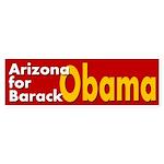 Arizona for Barack Obama car sticker