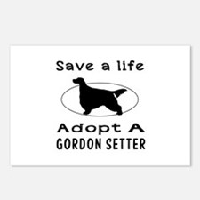 Adopt A Gordon Setter Dog Postcards (Package of 8)