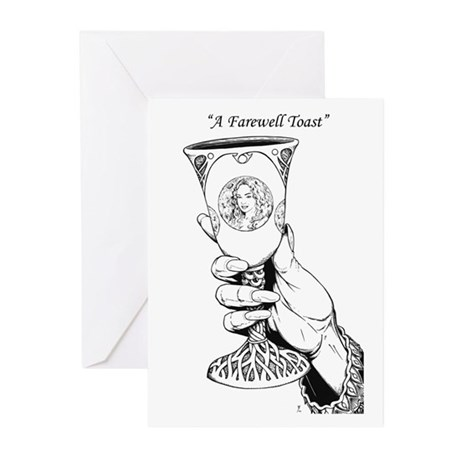 """A Farewell Toast"" Greeting Cards (Pk of 10)"