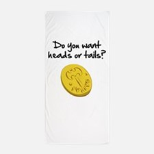 Heads or tails? Beach Towel
