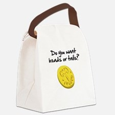Heads or tails? Canvas Lunch Bag