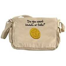 Heads or tails? Messenger Bag