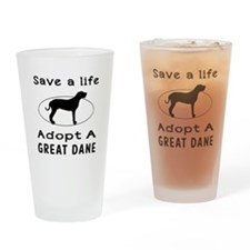 Adopt A Great Dane Dog Drinking Glass