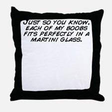 Cute Glass with you Throw Pillow