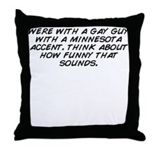Unique Sound guy Throw Pillow
