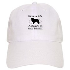 Adopt A Great Pyrenees Dog Baseball Cap