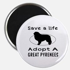 Adopt A Great Pyrenees Dog Magnet