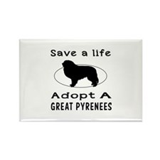 Adopt A Great Pyrenees Dog Rectangle Magnet