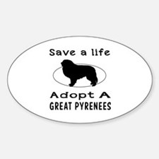 Adopt A Great Pyrenees Dog Decal