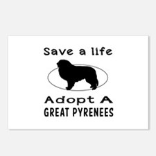 Adopt A Great Pyrenees Dog Postcards (Package of 8