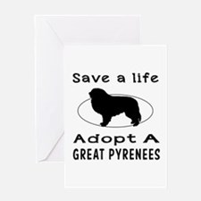 Adopt A Great Pyrenees Dog Greeting Card