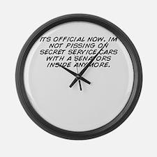 Secret service Large Wall Clock