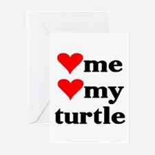 LOVE ME LOVE MY TURTLE Greeting Cards (Package of
