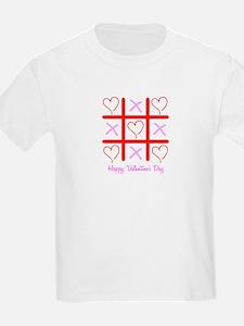 Valentine's Tic Tac Toe Kids T-Shirt