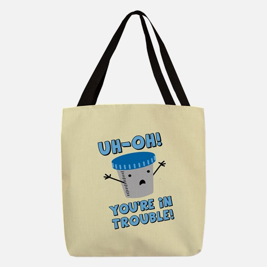 youre-in-trouble_b.png Polyester Tote Bag